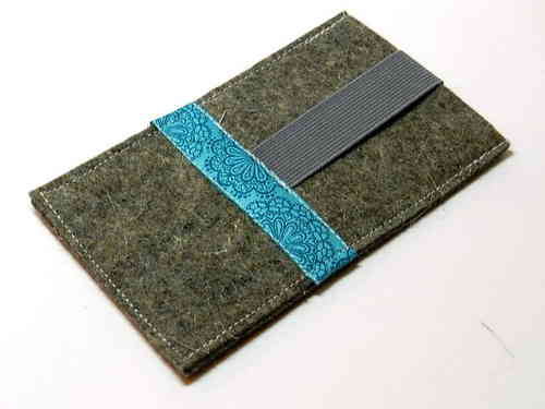 smartphone cover felt - LACE TURQUOIS