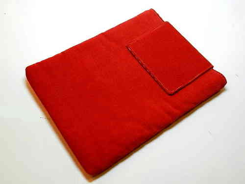 "tablet PC cover cord fabric ""RED"" custom made"