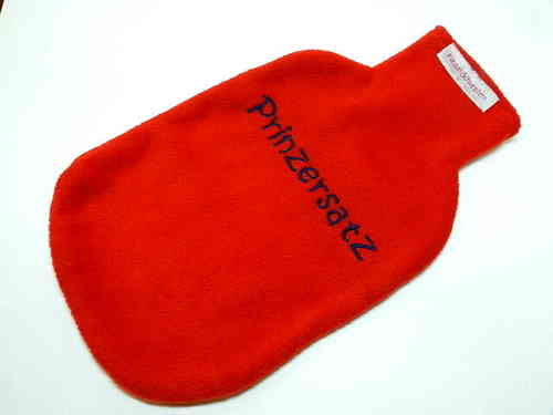 "hot-water bottle cover red ""PRINZERSATZ"""