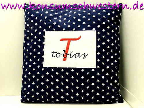 personalized pillow - CAPITAL LETTER initial
