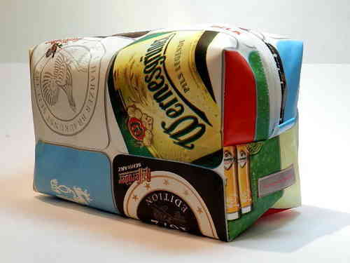 toiletry bag waxed fabric - BEER / BEER BRANDS