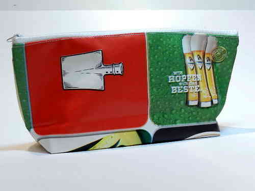 "pencil case waxed fabric ""BEER / BEER BRANDS"""