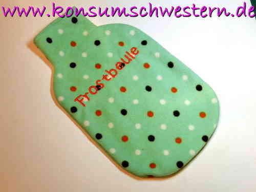 "hot-water bottle cover mint green ""FROSTBEULE"""