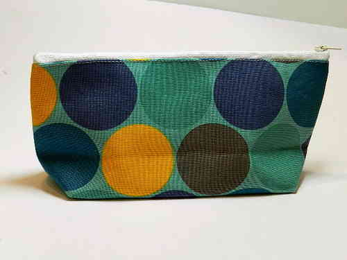 pencil case cotton fabric - MAXI DOTS BLUE