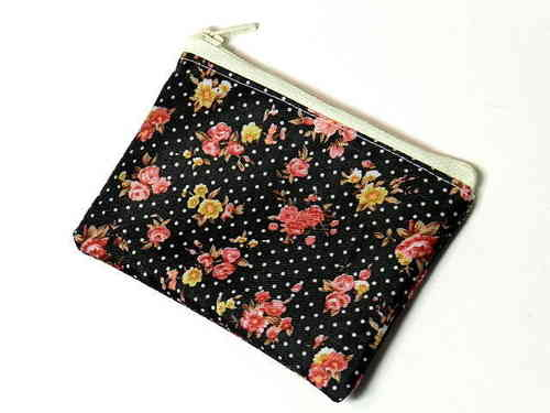 "mini bag ""ROSES ON BLACK"" made of PVC Ripstop"
