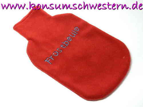 "hot-water bottle cover red ""FROSTBEULE"""