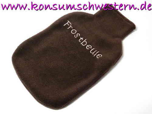 "hot-water bottle cover brown ""FROSTBEULE"""