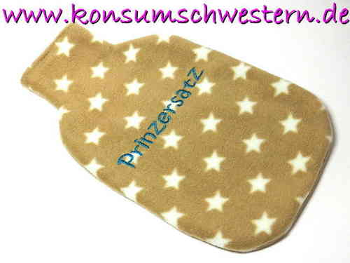 hot-water bottle cover PRINZERSATZ stars beige