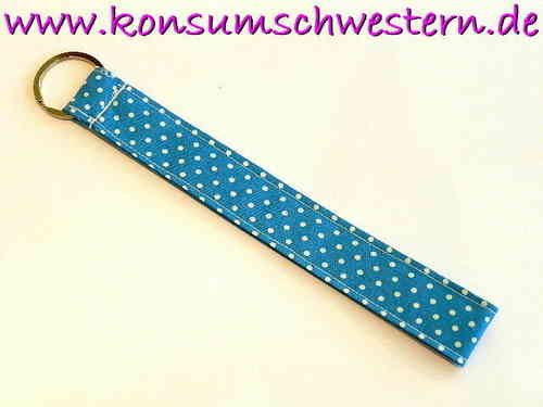 "long key chain ""POLKA DOTS TURQUOIS"" cotton"