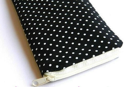 spectacle case - POLKA DOTS BLACK for glasses