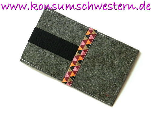 smartphone cover felt - TRIANGLES custom made