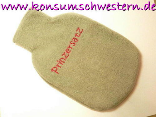 "hot-water bottle cover grey ""PRINZERSATZ"""